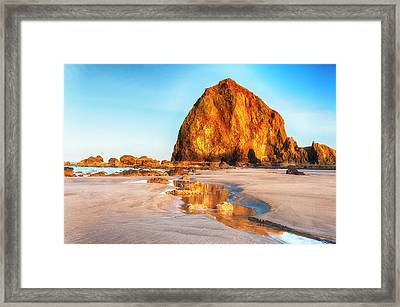 Liquid Gold Path At Low Tide Framed Print