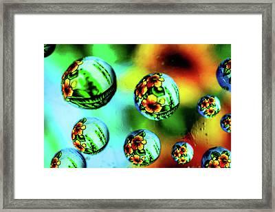 Liquid Lenses Framed Print