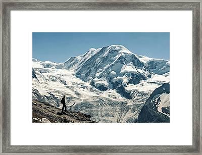 Liskamm Lyskamm 4527m Mountain Peak In Framed Print by Alpamayophoto