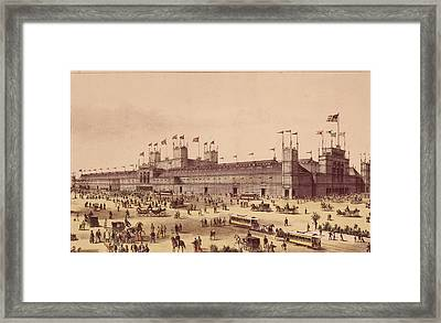 Lithograph Of Grand Centennial Framed Print by Kean Collection