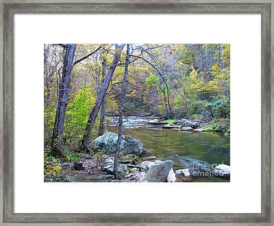 Little Falls Of Autumn Framed Print