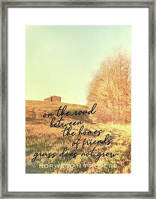 Little Getaway Quote Framed Print by JAMART Photography