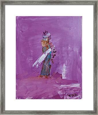 Little Indian Angel Framed Print