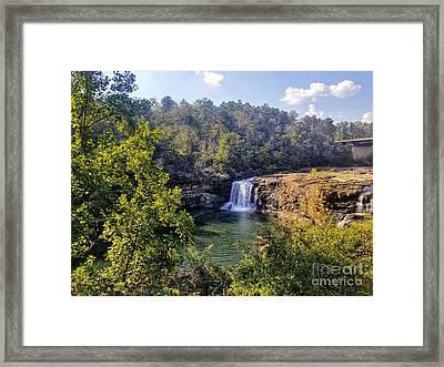Framed Print featuring the photograph Little River Canyon Falls Alabama by Rachel Hannah