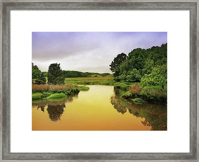 Little River Twilight Framed Print