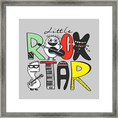 Little Rock Star - Baby Room Nursery Art Poster Print Framed Print