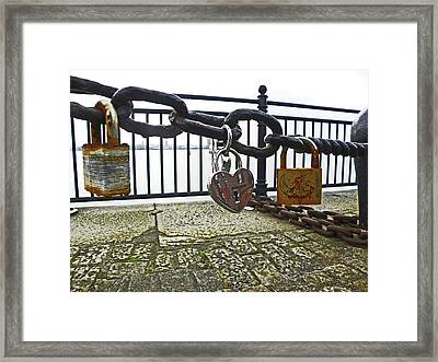Liverpool. The Albert Dock. Eternal Love. Framed Print