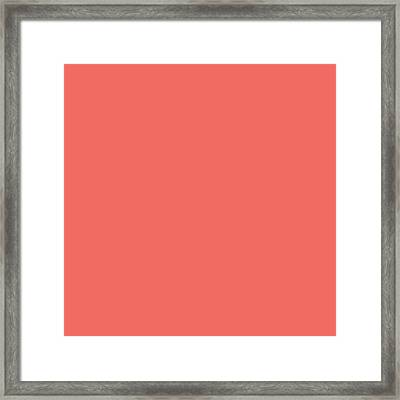 Framed Print featuring the mixed media Living Coral - Pantone Color Of The Year 2019 by Carol Cavalaris