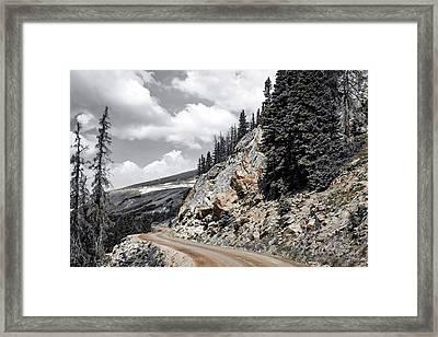 Living On The Edge Framed Print