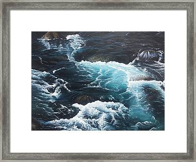 Framed Print featuring the painting Living Waters by Peter Mathios