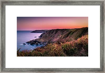 Lizard Point Sunset - Cornwall Framed Print