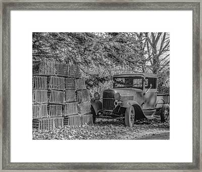 Lobster Pots And Truck Framed Print
