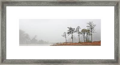 Framed Print featuring the photograph Loch Ard Misty Autumn Morning by Grant Glendinning