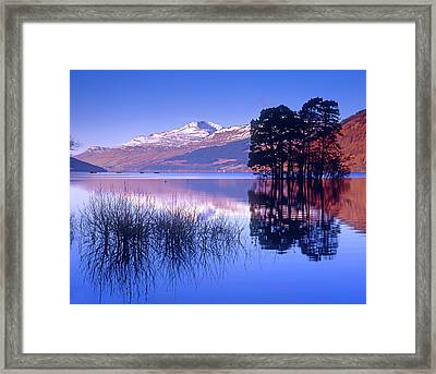 Loch Tay, Kenmore, Scotland Uk Framed Print by Kathy Collins