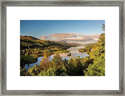 Loch Tummel Sunrise, Queen's View Framed Print by David Ross