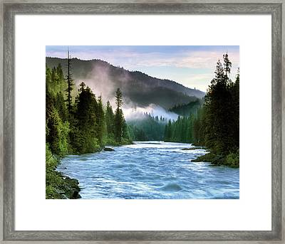 Lochsa River Framed Print by Leland D Howard