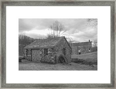 Lock House And Store - Waterloo Village Framed Print