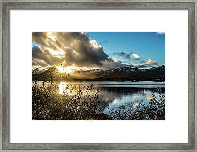 Lofoten Sunset Framed Print