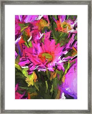 Lolly Pink Daisy Flower Framed Print