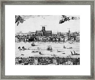London 1616 Framed Print by Hulton Archive