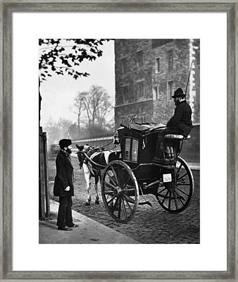 London Cabmen Framed Print by John Thomson