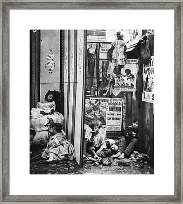 London Contrast Framed Print by London Stereoscopic Company