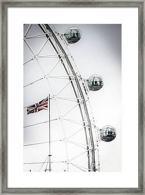 London Eye And Union Jack Framed Print