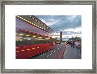 London Rush Hour Framed Print by Rob Maynard
