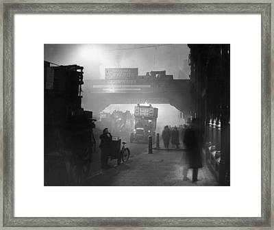 London Smog Framed Print by Topical Press Agency