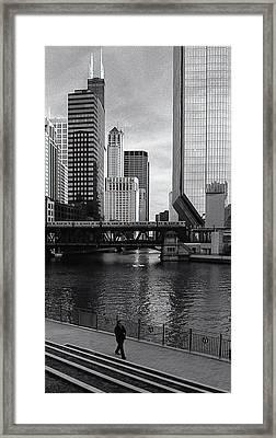 Lone Walk Framed Print