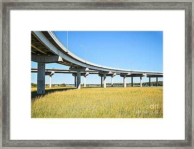 Long Concrete Bridge  Framed Print