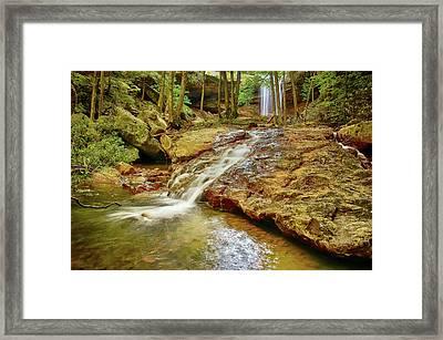 Long Falls Framed Print