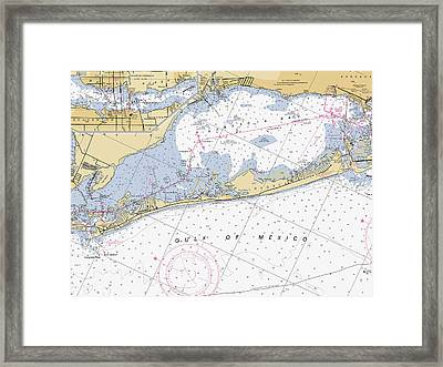Longboat Ket Florida Noaa Nautical Chart Framed Print