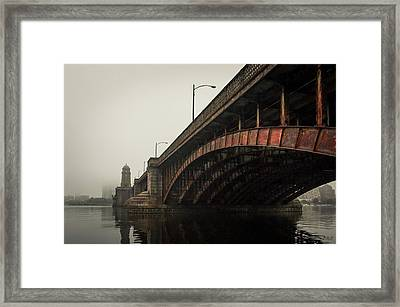 Framed Print featuring the photograph Longfellow Bridge I Color by David Gordon