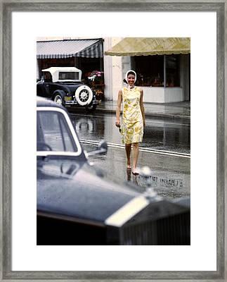 Look No Shoes Framed Print by Slim Aarons