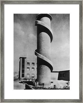 Look-out Tower Framed Print by Keystone
