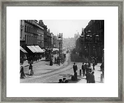 Lord Street Framed Print by London Stereoscopic Company