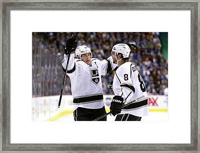 Los Angeles Kings V Vancouver Canucks - Framed Print