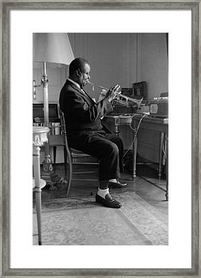 Louis Armstrong In 1959 Framed Print by Giancarlo Botti