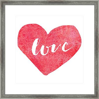 Framed Print featuring the digital art Love Is In The Air by Bee-Bee Deigner