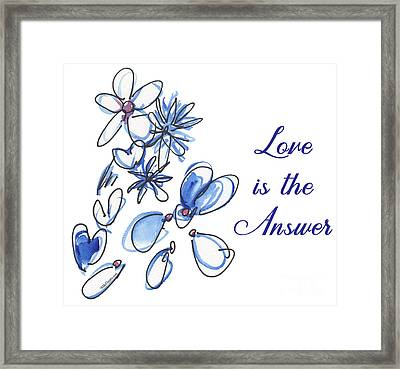 Love Is The Answer Framed Print