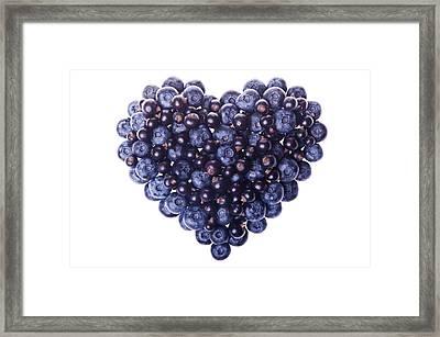 Love Shape Of Fresh Fruit Framed Print by Digihelion