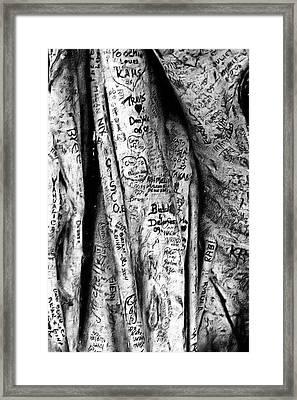 Love Signs Framed Print