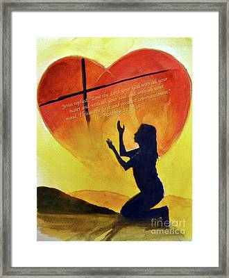 Love The Lord Framed Print