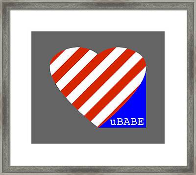 Love Ubabe America Framed Print