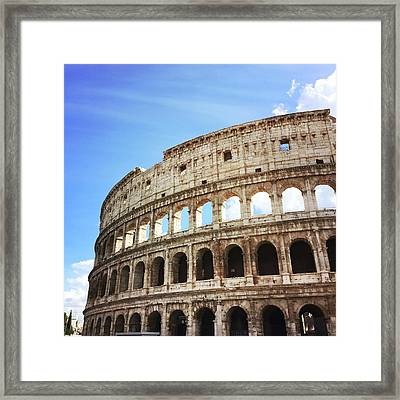 Low Angle View Of Coliseum Against Sky Framed Print by Kate Dalton / Eyeem