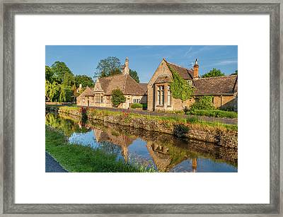 Lower Slaughter And The River Eye Framed Print by David Ross