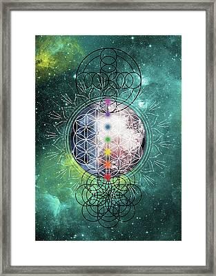Framed Print featuring the digital art Lunar Mysteries by Bee-Bee Deigner