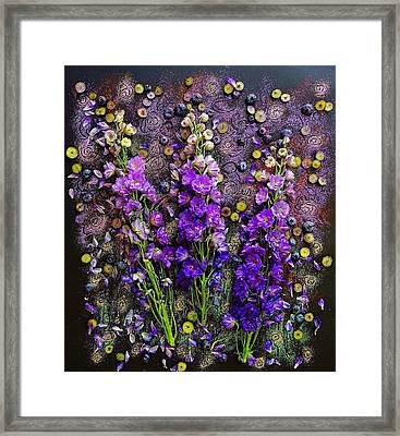 Lupine And Blueberries  Framed Print
