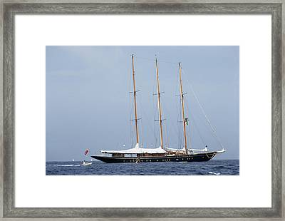 Luxury Yacht Framed Print